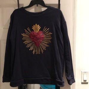 Cozy Sweatshirt w/Embroidery